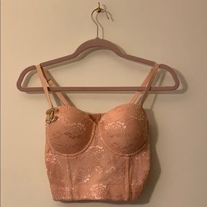 Pink Lace Bustier